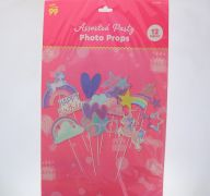 UNICORN ASSORTED PARTY PHOTO PROPS 12 PACK