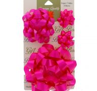 HOT PINK 4 PACK BOWS