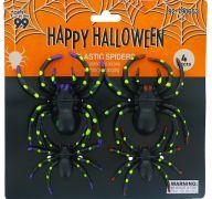 PLASTIC SPIDER 4 PACK 10 X 8 CM