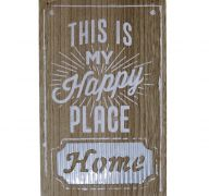 WOOD PLAQUE WITH MESSAGE