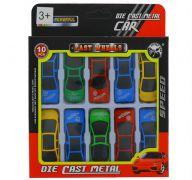 DIE CAST SPEED CAR 10 PACK