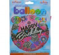 HAPPY BIRTHDAY 18 INCH MYLAR BALLOON