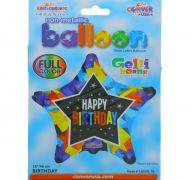 STAR SHAPE BIRTHDAY 18 INCH MYLAR BALLOON