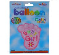 ITS A GIRL FOOT NON FOIL BALLOON 18 INCH