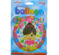 HAPPY BIRTHDAY BALLERINA MYLAR 18 INCH