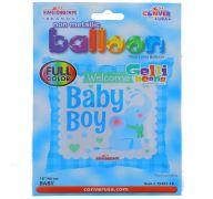 BABY BOY SQUARE NON FOIL BALLOON 18 INCH