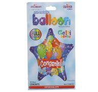 CONGRATS FESTIVE MYLAR BALLOON 18 INCH