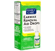 FAMILY CARE EAR WAX REMOVAL DROPS 0.5Z