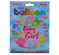 BABY GIRL NON FOIL BALLOON 18 INCH