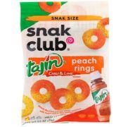SNAK CLUB TAJIN PEACH RINGS 2.5 OZ