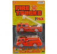 FIRE RESCUE TRUCK 2 PACK 4 INCH