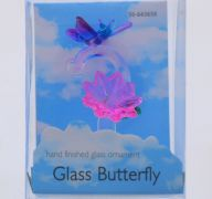 GLASS BUTTERFLY ORNAMENT