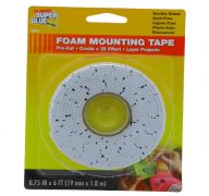 FOAM MOUNTING TAPE 0.75 INCH X 6 FT