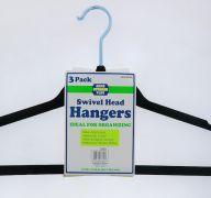 SWIVEL HEAD HANGERS 3 PACK