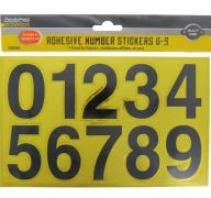 ADHESIVE NUMBER STICKERS 0-9