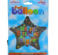 HAPPY BIRTHDAY STAR BALLOON 18 INCH