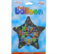 HAPPY BIRTHDAY STAR MYLAR BALLOON 18 INCH