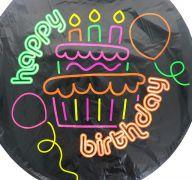 NEON BIRTHDAY MYLAR BALLOON