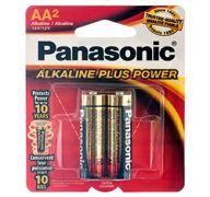 BATTERY PANASONIC ALKALINE #AA- 2PK POWER PLUS