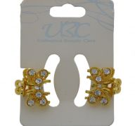 GOLD BUTTERFLY HAIR CLIPS 2 PACK