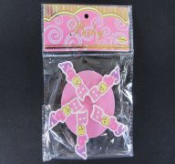WOODEN BABY CLIPS PINK