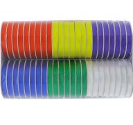 BOLD POLY-SATIN RIBBONS ASSORTED COLORS 38 INCH X 5 YARDS