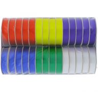 BOLD POLY-SATIN RIBBONS ASSORTED COLORS 58 INCH X 4 YARDS