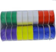 BOLD POLY-SATIN RIBBONS ASSORTED COLORS 1 INCH X 3 YARDS