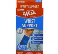 WRIST SUPPORT TWO PACK ONE SIZE