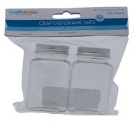 CRAFT STORAGE JARS 2 PACK 1.5 X 8 CM