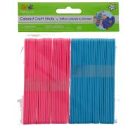 COLORED CRAFT STICKS PINK AND BLUE 50 PACK 4.5 X 3.8 INCH  XXX DIS