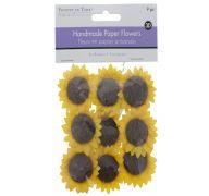 SUNFLOWER HANDMADE FLOWERS 9 PC 3D