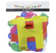 HAPPY BIRTHDAY FOIL BANNER 9 FT X 8 IN