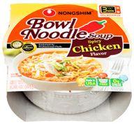 NONGSHIM BOWL NOODLE 3.03 OZ SPICY CHICKEN