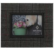 BLACK AND WHITE FABRIC FRAME 6 X 4 INCH
