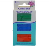 CRAVERS CLAY 3 PACK MODELING CLAY GREEN BLURE RED
