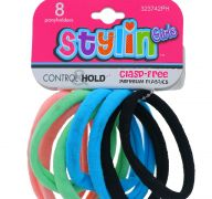 STYLIN GIRL CLASP FREE PONY HOLDER 8 PACK