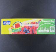 STORAGE BAG GALLON SLIDERS 10PK