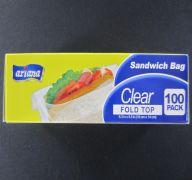 SANDWICH BAG FOLD TOP 100PK