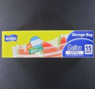 STORAGE BAG GALLON ZIPPER 15PK