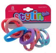 STYLIN GIRLS PONY HOLDER 8 PACK