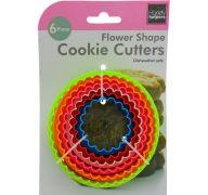 FLOWER SHAPE COOKIE CUTTER 6 PACK