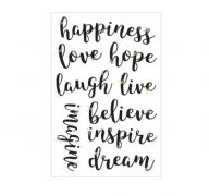 HAPPINESS STICKERS WITH GEM 9 PC