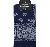 Navy Blue Bandana 100 Cotton Versatile Large Paisley Bandanas in Pack of 1