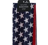 American Flag Bandana 100 Cotton Versatile Large Paisley Bandanas in Pack of 1