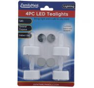LED TEALIGHTS 4 COUNT