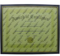 DOCUMENT FRAME BLACK AND GOLD TRIM 11 X 14 INCH