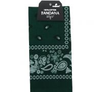 Green Bandana 100 Cotton Versatile Large Paisley Bandanas in Pack of 1