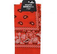 Orange Bandana 100 Cotton Versatile Large Paisley Bandanas in Pack of 1