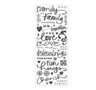 FAMILY PHRASE STICKERS 40 PC